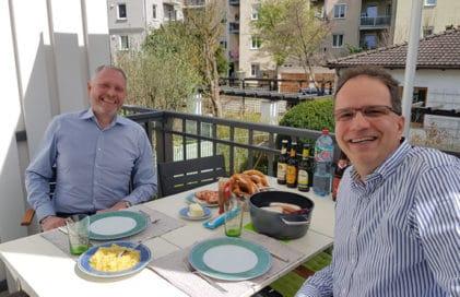Anton Fiener und Thomas Issler beim Coaching