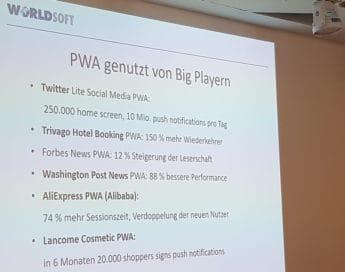 Worldsoft CMS mit Progressive Web App (PWA) Funktionalität