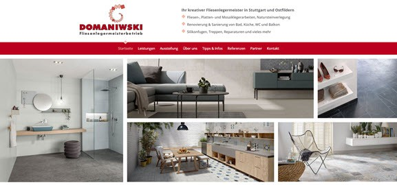 Website Fliesenleger Domaniwski