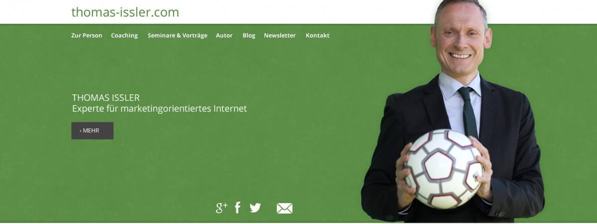 1. Entwurf Website Thomas Issler