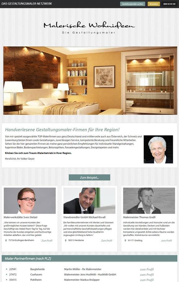 0711-Netz erstellt Website von Malerische-Wohnideen Partnernetzwerk