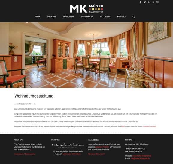 WordPress Relaunch Maler Knöpper