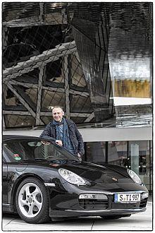 Thomas Issler beim Porsche Museum