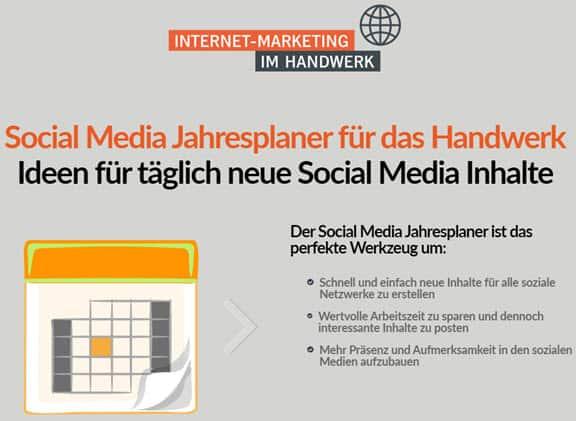 """""""Genau das, was das Handwerk braucht"""" – der erste Social Media Jahresplaner für das Handwerk"""